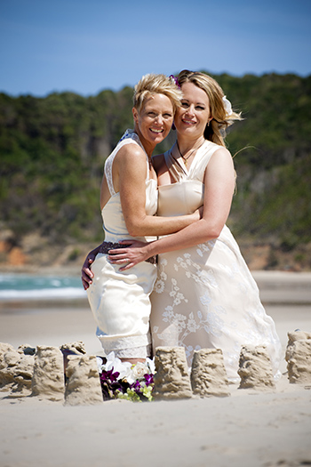 Rainbow Pride Celebrant - Emily & Denise' Commitment Pavilions Broken Head Byron Bay Northern NSW