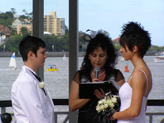 Same Sex Commitment at Newstead park in Brisbane for a Lesbian Couple