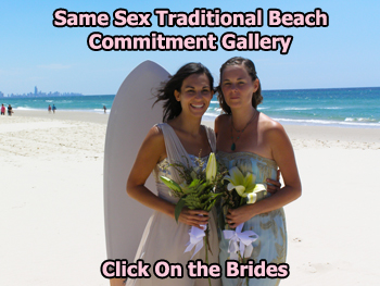 Same Sex Traditional Beach Commitment Gallery