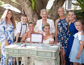 Rainbow Pride Celebrant Jayney & Sarah Wedding Palmwoods Home Sunshine Coast