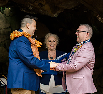 Rainbow Pride Celebrant Zane & Julian's Wedding Tamborine Gardens Wedding Resort Tamborine Mountain