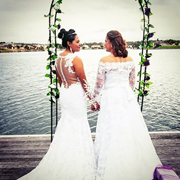 Rainbow Pride Celebrant Shirin & Neeta Wedding Theme Park Central Holiday House Helensvale